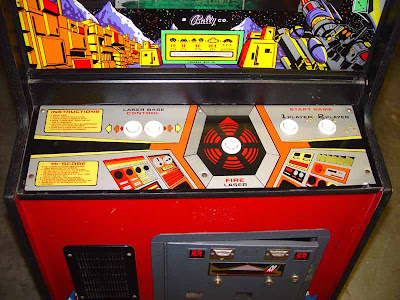 Space Invaders Deluxe Arcade Cabinet controls