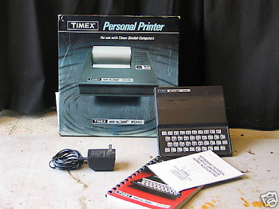 Timex Sinclair 1000 and Timex personal printer