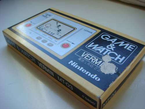 It's one of those relatively rare Game & Watch handhelds by Nintendo