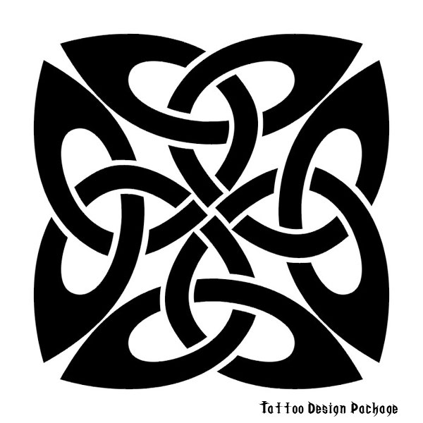 Celtic tattoo depicting an ancient Celtic symbol called a triskelle.