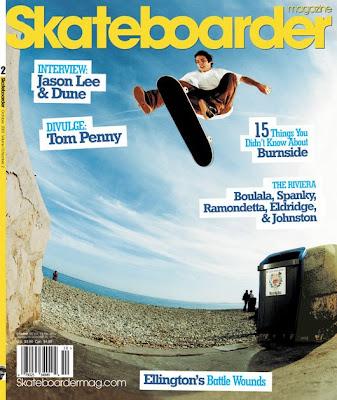 pete eldridge on the cover of skateboarder magazine