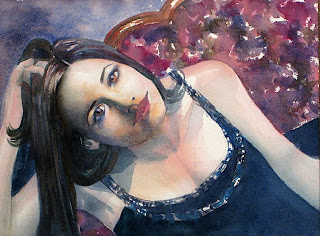 retrato acuarela watercolor portrait