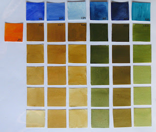 211 anaranjado cadmio 506 ultramar oscuro 511 cobalto 534 cerúleo 508 prusia 585 indantreno 522 turquesa