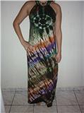 Vestido tie-dye tropical
