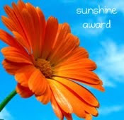 Sunshine Blog Award!