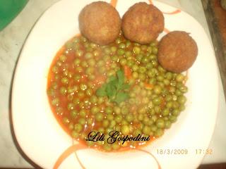 Articole culinare : Pârjoluțe din soia cu mazare