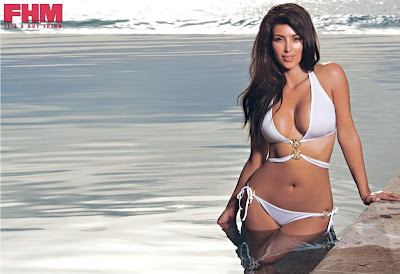 Kim Kardashian in South African FHM hot pics