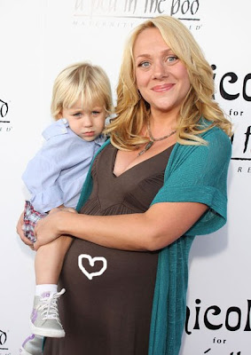 Nicole Sullivan with her baby