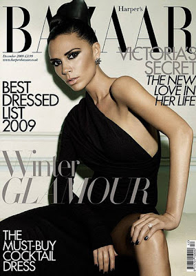 Victoria Beckham on Harper's Bazaar Magazine December 2009 sexy photo