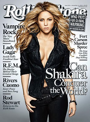 Shakira At Rolling Stone's Magazine Covers p[icture