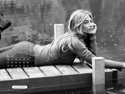 Jennifer Aniston Desktop Calendar october pics