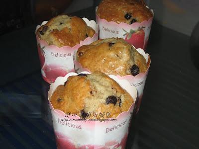 raisin choco chip muffin