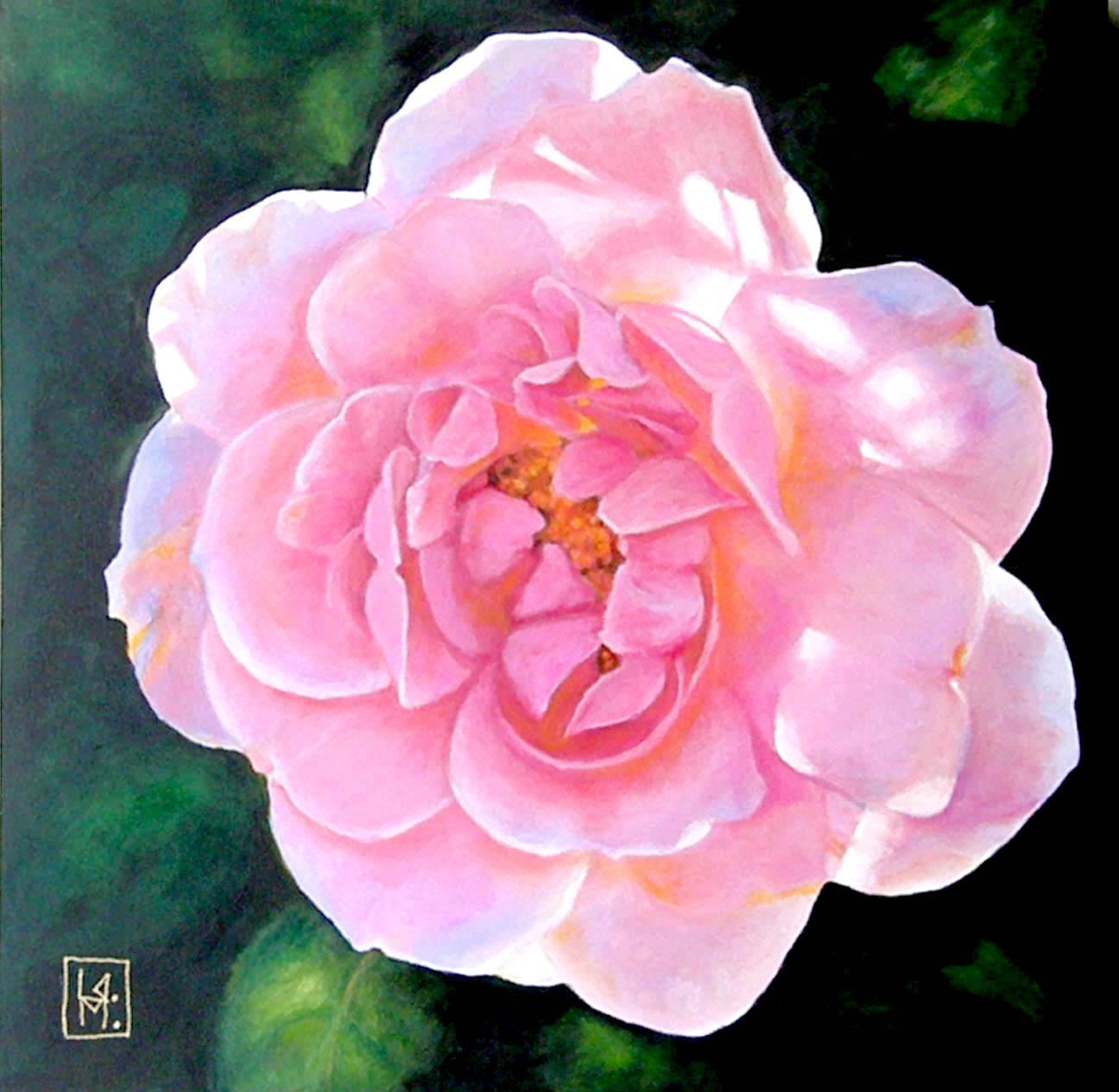 Linda Mahoney Art Painting BIG Flowers