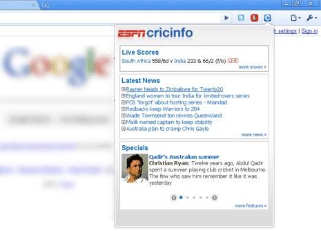 Useful google chrome Extensions Espn-cricinfo-chrome-plugin