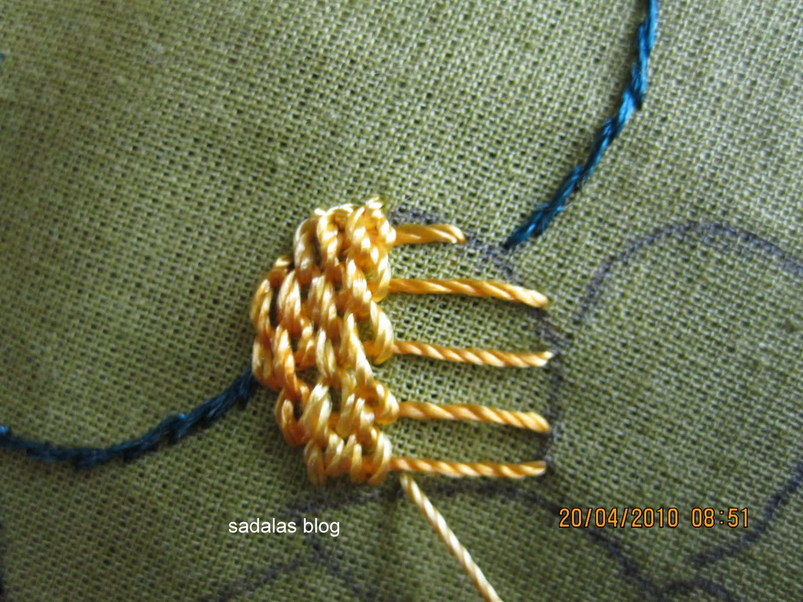 HAND EMBROIDERY FROM SADALAS: Bullian stitch:Video Tutorial