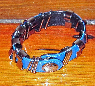 Rebecca Minkoff, Rebecca Minkoff sample sale, Rebecca Minkoff Loop and Stud Bracelet Turquoise, Rebecca Minkoff bracelet, Rebecca Minkoff jewelry, bracelet, Rebecca Minkoff cuff, cuff, jewel, jewelry, sample sale