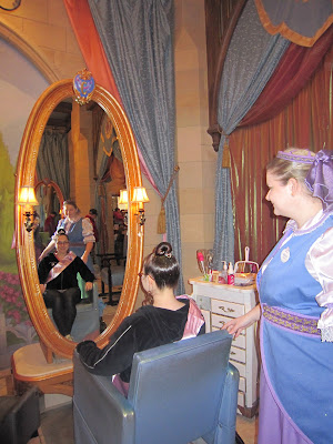 Bibbidi Bobbidi Boutique, Disney World, hair, hair salon, salon, hair treatment, princess, fairy tale, fairytale, fairy tale princess, fairytale princess, Disney Princess