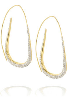Tom Binns, Tom Binns jewelry, Tom Binns earrings, Tom Binns 18-Karat-Gold Swarovski Hoop Earrings, Net-a-Porter, Swarovski, earring, earrings, jewel, jewels, jewelry, Swarovski crystal, Swarovski jewelry