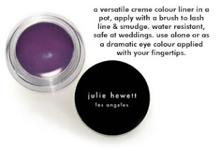 Julie Hewett, Great Brand Alert, makeup, Julie Hewett Noir Collection, Julie Hewett Hue Colour Cream Liner/Shadow, eyeliner, eye liner, eyeshadow, eye shadow, eye makeup, liquid eyeliner