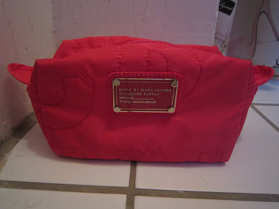 Marc By Marc Jacobs, Marc By Marc Jacobs Long Cosmetic Case Raspberry, Marc By Marc Jacobs cosmetic case, Marc By Marc Jacobs makeup bag, makeup bag, cosmetic case, cosmetics case, Marc Jacobs