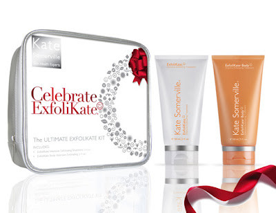 Kate Somerville, Kate Somerville ExfoliKate, Kate Somerville Celebrate ExfoliKate, Kate Somerville gift set, Kate Somerville ExfoliKate Intensive Exfoliating Treatment, Kate Somerville ExfoliKate Body Intensive Exfoliating Treatment, gift, gift guide, holiday gifts, exfoliate, exfoliator, scrub, face scrub, body scrub