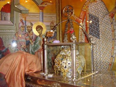 A fost furată mitra episcopală de pe racla Sf. Dimitrie din Tesalonic
