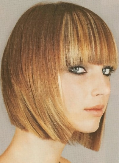 inverted bob with bangs. Inverted, Angled Bob