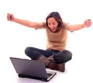 ekspresi luar biasa saat anda mampu memecahkan masalah pada laptop anda.