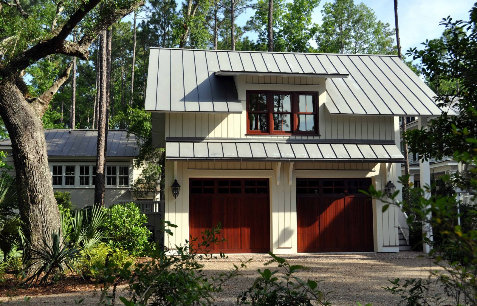 Lowcountry architect contemporary dog trot for Metal roof home plans