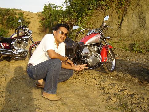 Zihan dengan motonya