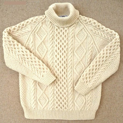 handknitted fisherman sweater from Ireland