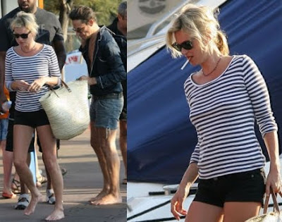 kate moss in St. Tropez with jamie hince
