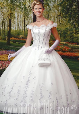 white wedding dress picture