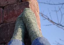 Snow Petal Socks