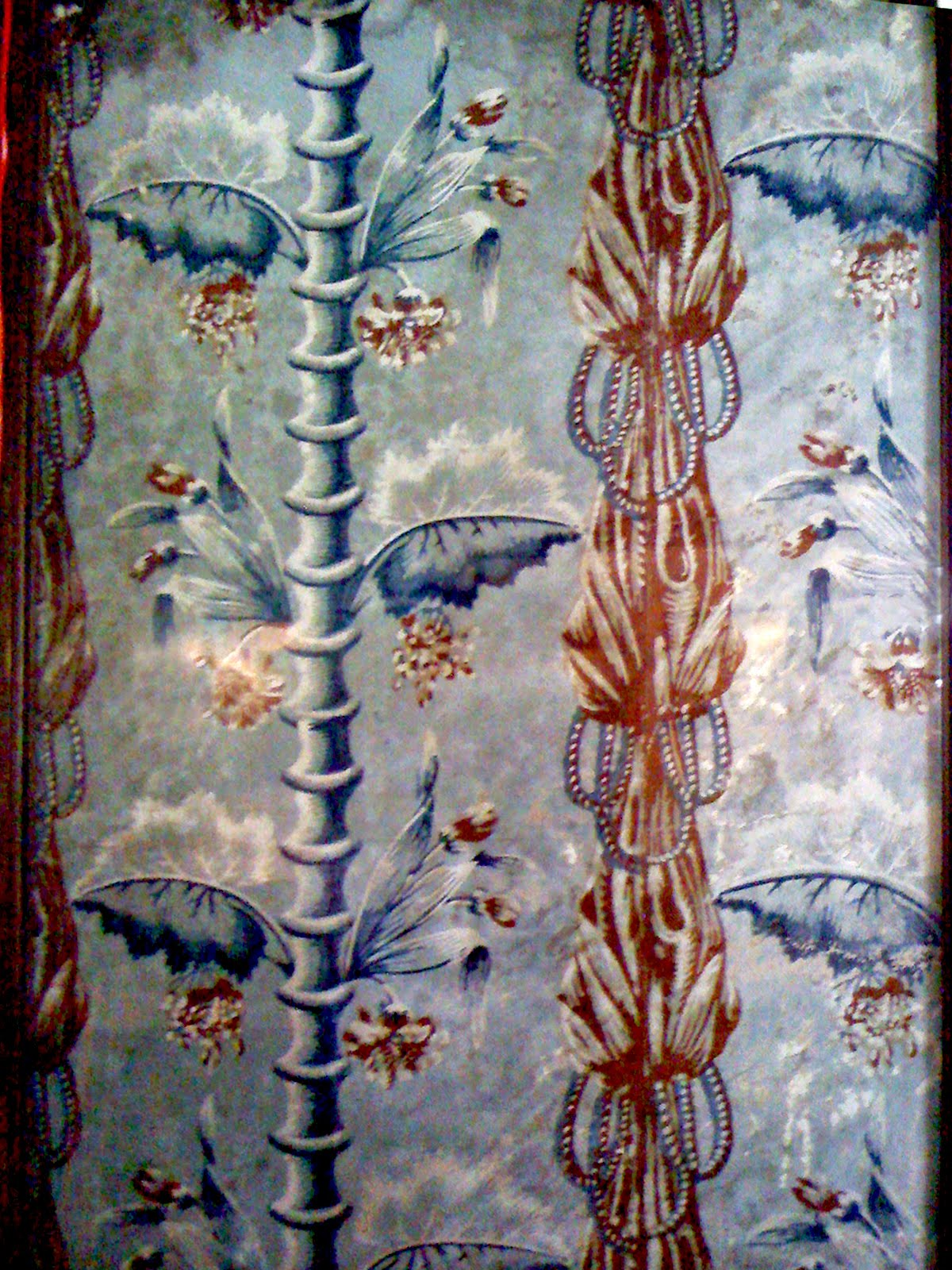 this wonderful French wallpaper was found in the 17th century