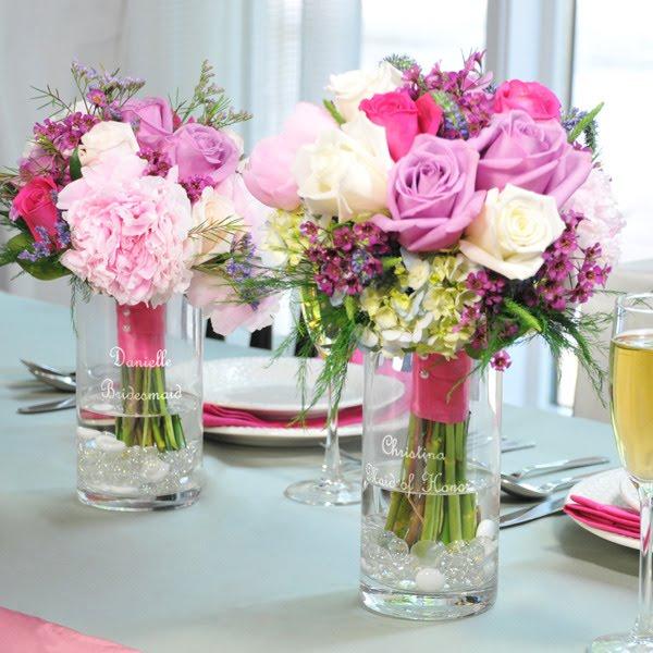 Personalized Keepsake Bridesmaid Bouquet Holder Vase