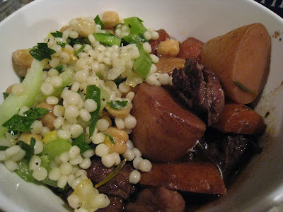 Moroccan-style slow-cooked beef stew