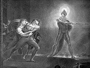 oedipus the king and ghosts Oedipus is the king of thebes, husband of jocasta creon returns from seeing tiresias after he has spoken to laius' ghost, but is unwilling to reveal to oedipus the killer's name oedipus threatens him, and then creon relents.