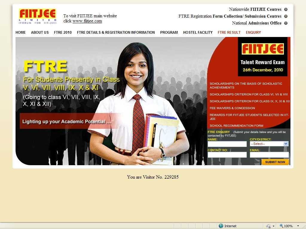 Admission paper for sale fiitjee
