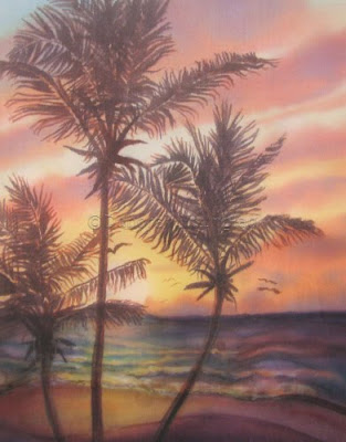Younglao seascape painting sunrise at Cattlewash 1