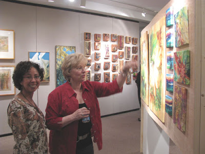 Younglao display wall at art exhibition
