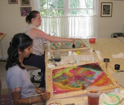 studio silk painting class