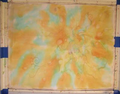Younglao batik painting step 1