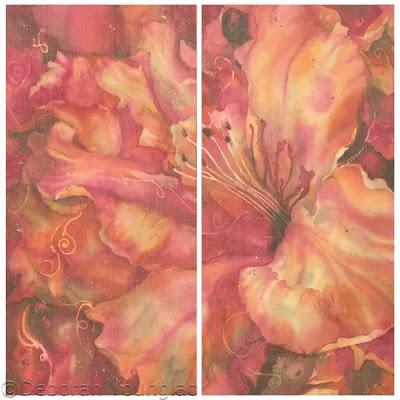 Deborah Younglao batik azalea flower painting