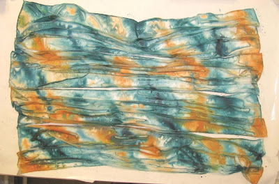 Deborah Younglao silk scarves in progress