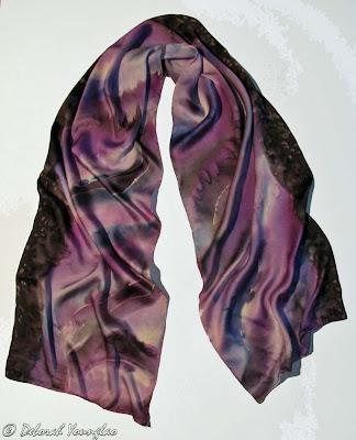 Deborah Younglao silk scarf purple mist