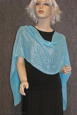 Deborah Younglao silk scarf shimmering dots