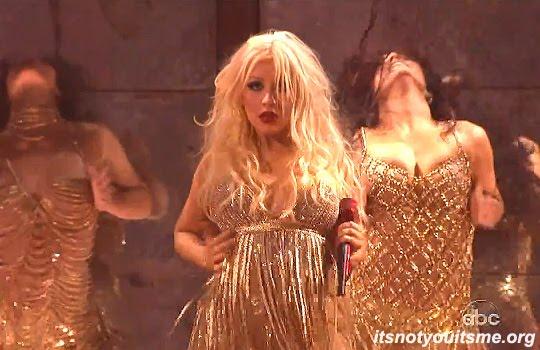 christina aguilera burlesque. Christina Aguilera brought her