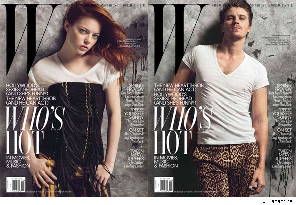 ... shares cover duties with Garrett Hedlund for W Magazine's January issue.