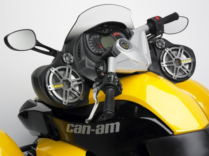 Hot Cars Tv Audio System For The Can Am Spyder 3 Wheel